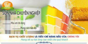 Chuyên nhận dịch vụ sơn nhà trọn gói giá rẻ uy tín